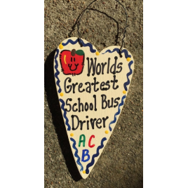 Teacher Gifts 3022  Worlds Greatest School Bus Driver