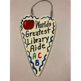 Library Aide 3038  Teacher Gifts Worlds Greatest  Library Aide