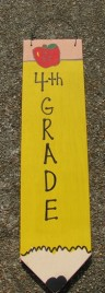 3075P4- 4th Grade Teacher wood pencil