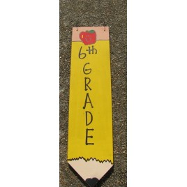 3075P6- 6th Grade Teacher wood pencil