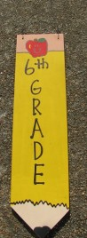 3075P6- 6th Grade Teacher wood pencil