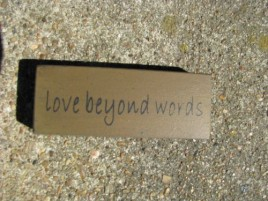 31418LBW Love Beyond Words wood block