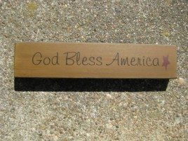 31421GBA - God Bless America wood Block