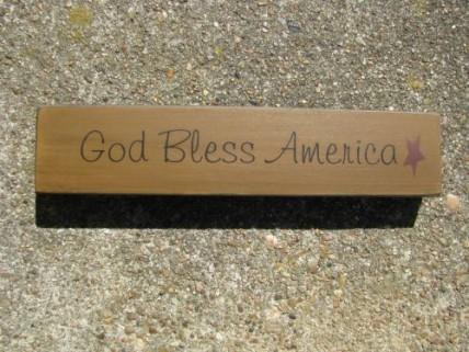31421GBA - God Bless America wood Block
