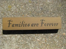 31423FAF-Families Are Forever wood Block