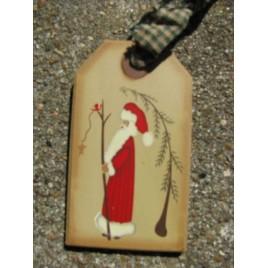 31617T-Santa Wood Gift Tag