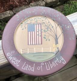 31662S-Sweet Land of Liberty wood plate