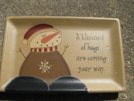31915A - A Blizzard of Hugs are coming your way wood plate