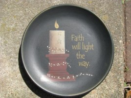 Primitive Wood Plate 32009 - Faith will Light the Way