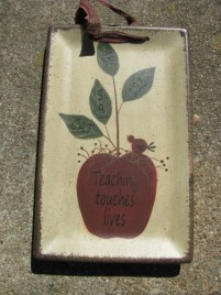 Teacher Gifts 32093T - Teaching Touches Lives wood plate