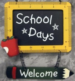 505-32149 Welcome School Days Wood Sign