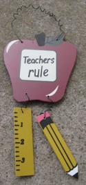 32150TR -Teachers Rule Apple Ruler Pencil