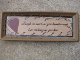 Primitive Wood Plate 32189 - Love & Laughter