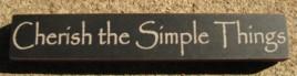 32320CB - Cherish the Simple Things Mini wood block