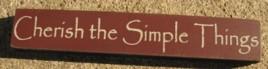 32320CM - Cherish the Simple Things Mini wood block