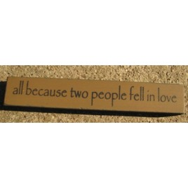 32324LG -All Because Two People fell in love mini block