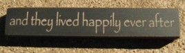 32324TB-And they Live Happily ever after MINI wood block