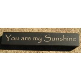 32325YB You Are My Sunshine mini wood block
