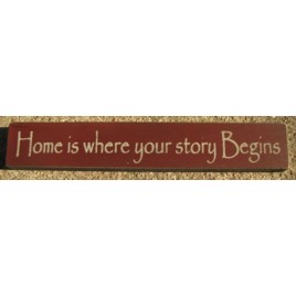 32326HM Home is where your story Begins Wood Block