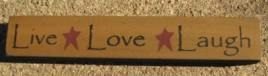 32327LG-Live Love Laugh wood block