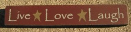 32327LM-Live Love Laugh wood block