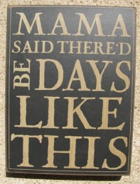 32424B - Mama Said Thered Be Days like This box sign