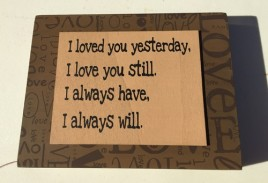 Primitive Wood Box Sign - 32509L - I Love You