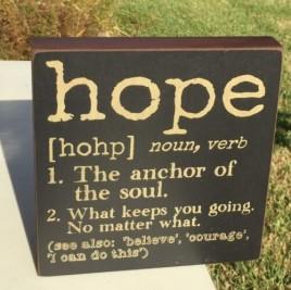 Primitive Hope Word Definition Sign