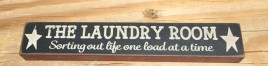 Primitive Wood Block 33246LR - MINI Sign The Laundry Room