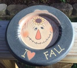 Primitive Wood Fall Plate 33609F - I love Fall Wood Plate
