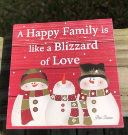 34189 A Happy Family is like a blizzard of love wood block