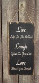 3546LLL - Live Laugh Love