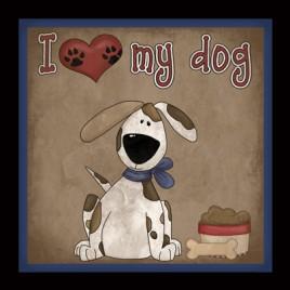 362D - I Love My Dog Plaque
