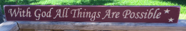 Primitive   1875 With God All Things Are Possible Burgundy