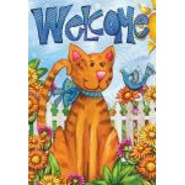 Garden Flag 5021 Welcome Cat