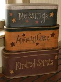 3B1303 - Blessings, Amazing Grace, Kindred Spirits set of 3 nesting Boxes