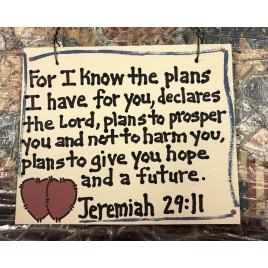 Crafts Wood Scripture Sign 4015 - Jeremiah 29:11