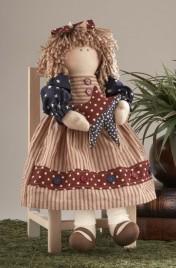 41400- Americana Doll w/star