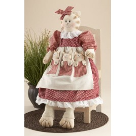 41518C- Mother Cat w/kittens Cloth
