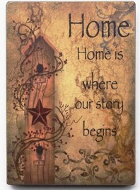 45361H - Home is Where your Story Begins wood sign