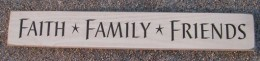 4633FFC- Faith Family Friends engraved wood sign