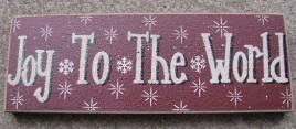 47142JW- Joy To the World wood block