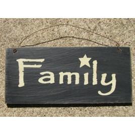 D4874Y - Family Sign Black wood sign