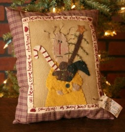 Primitive Christmas Pillow All Hearts Come Homefor Christmas