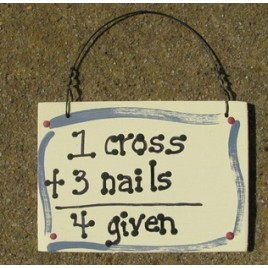 4Given = 1 cross + 3 Nails