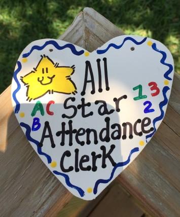 Attendance Clerk Teacher Gifts 5029 All Star Attendance Clerk