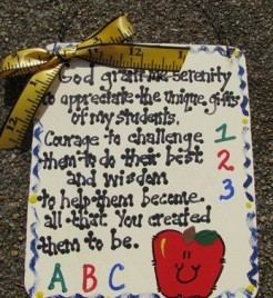 Teacher Gifts 5100GGMS God Grant me Serenity Teacher Prayer Wood Sign