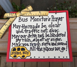 School Bus Monitor Gifts  5104M Bus Monitor's Prayer