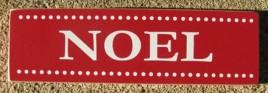 51329F - Noel Red wood block