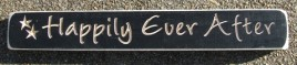 525HEA - Happily Ever After engraved wood block